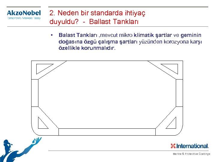 2. Neden bir standarda ihtiyaç duyuldu? - Ballast Tankları • Balast Tankları , mevcut