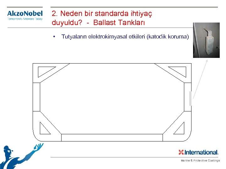 2. Neden bir standarda ihtiyaç duyuldu? - Ballast Tankları • Tutyaların elektrokimyasal etkileri (katodik