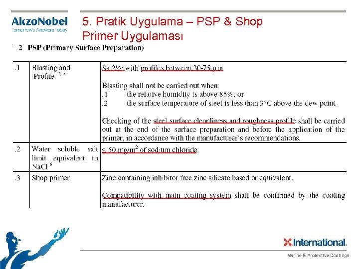 5. Pratik Uygulama – PSP & Shop Primer Uygulaması Marine & Protective Coatings