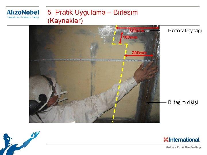 5. Pratik Uygulama – Birleşim (Kaynaklar) 300 mm Rezerv kaynağı 100 mm 200 mm