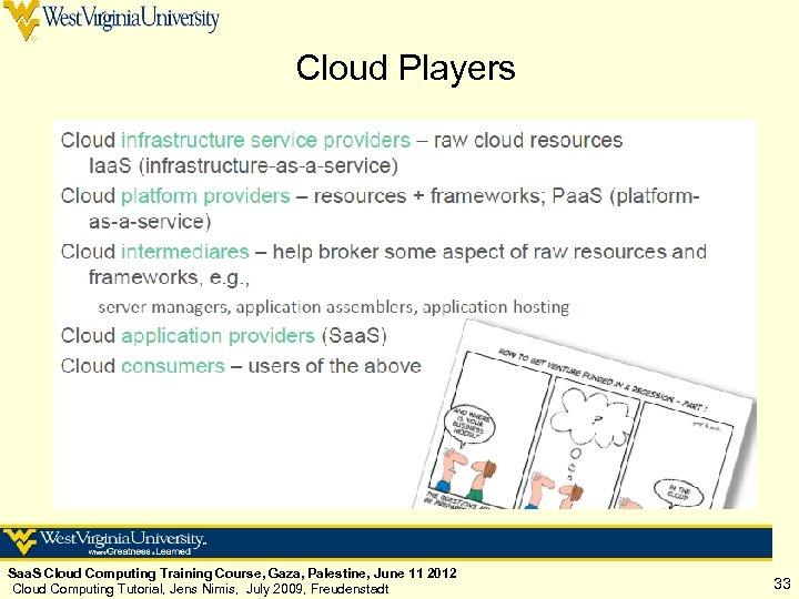 Cloud Players Saa. S Cloud Computing Training Course, Gaza, Palestine, June 11 2012 Cloud