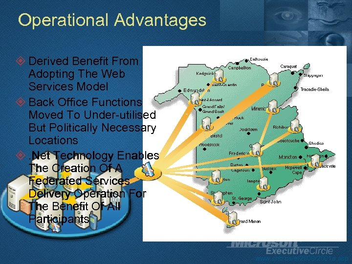 Operational Advantages ² Derived Benefit From Adopting The Web Services Model ² Back Office