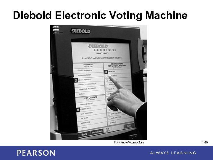 Diebold Electronic Voting Machine © AP Photo/Rogelio Solis 1 -30
