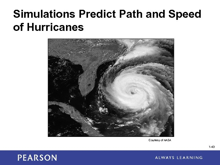 Simulations Predict Path and Speed of Hurricanes Courtesy of NASA 1 -43