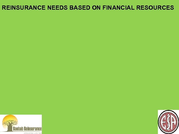 REINSURANCE NEEDS BASED ON FINANCIAL RESOURCES