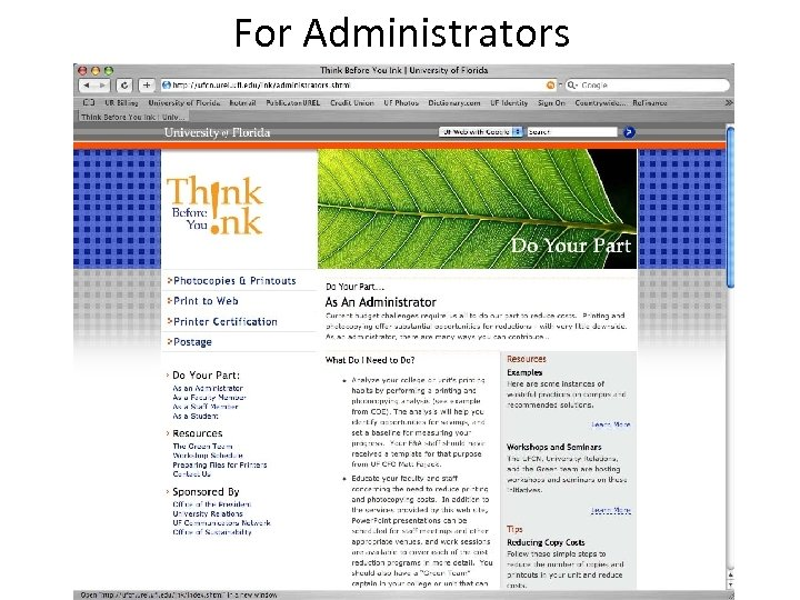 For Administrators