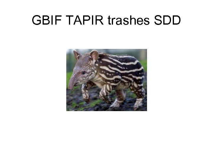 GBIF TAPIR trashes SDD