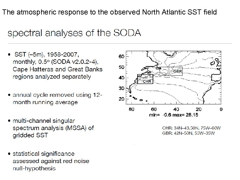 The atmospheric response to the observed North Atlantic SST field