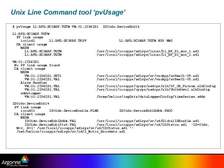 Unix Line Command tool 'pv. Usage' $ pv. Usage L 1: RFG: DC 3
