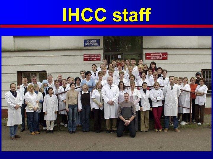 IHCC staff