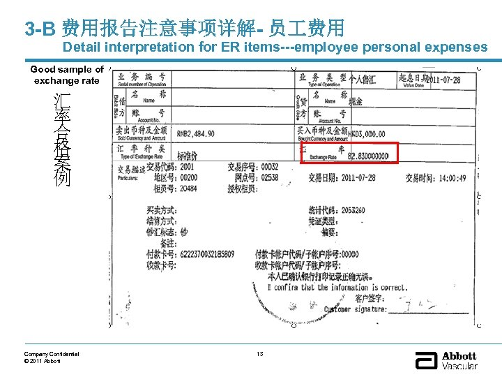 3 -B 费用报告注意事项详解- 员 费用 Detail interpretation for ER items---employee personal expenses Good sample