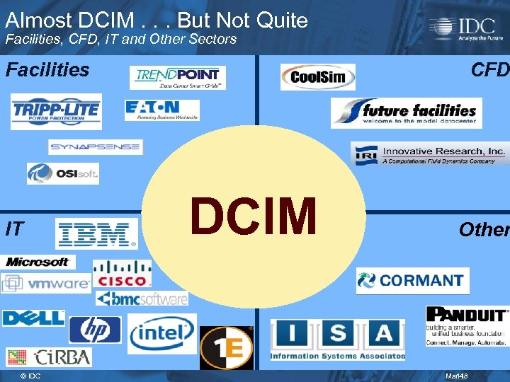 Almost DCIM. . . But Not Quite Facilities, CFD, IT and Other Sectors Facilities