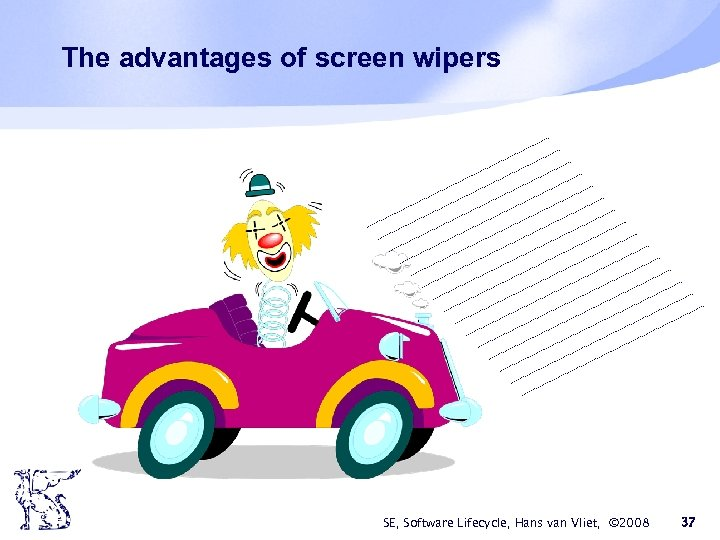 The advantages of screen wipers SE, Software Lifecycle, Hans van Vliet, © 2008 37