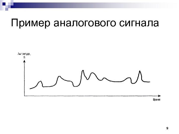 Пример аналогового сигнала 9