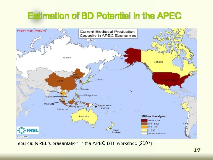 Estimation of BD Potential in the APEC source: NREL's presentation in the APEC BTF