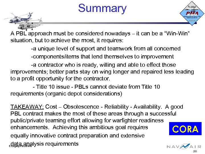 "Summary A PBL approach must be considered nowadays – it can be a ""Win-Win"""