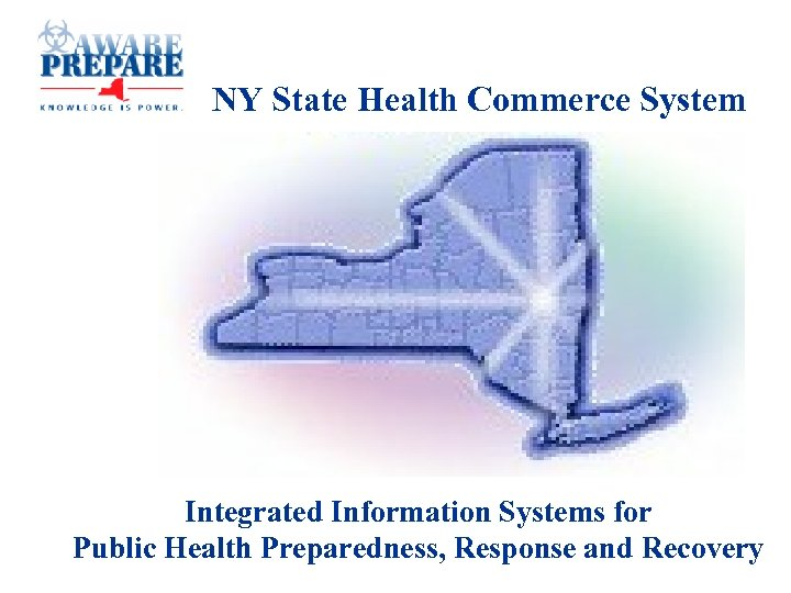 NY State Health Commerce System Integrated Information Systems for Public Health Preparedness, Response and
