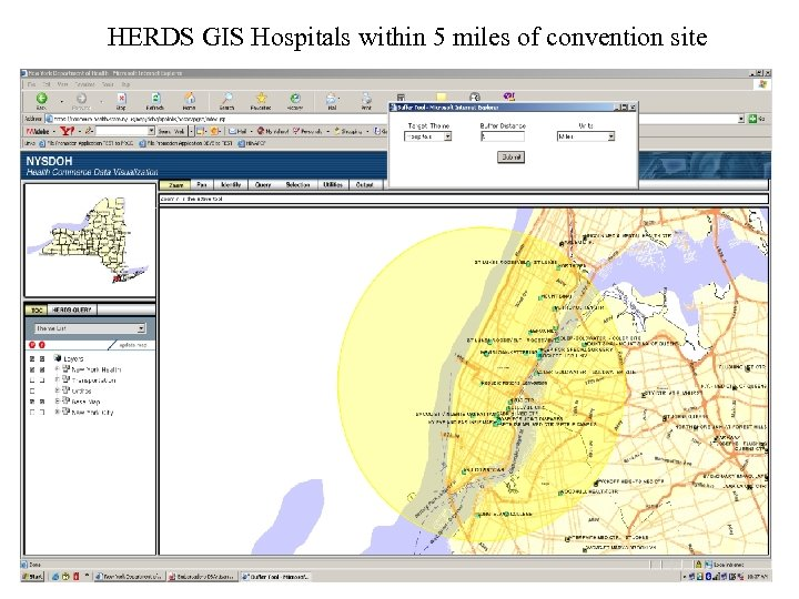 HERDS GIS Hospitals within 5 miles of convention site