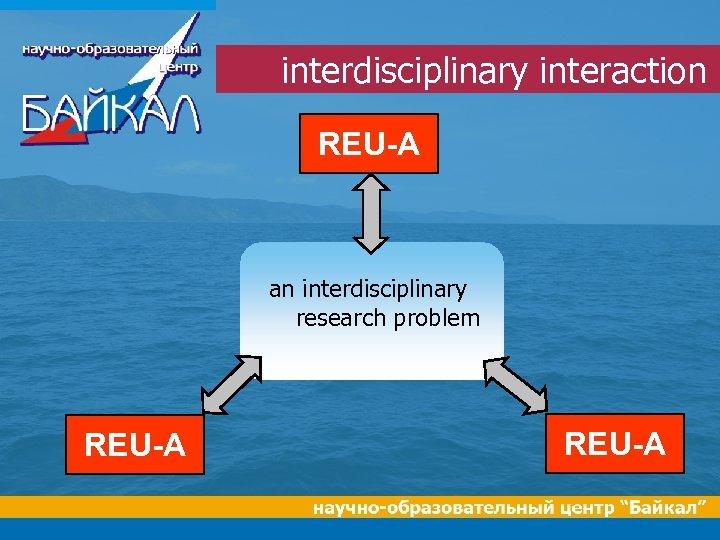 interdisciplinary interaction REU-A an interdisciplinary research problem REU-A