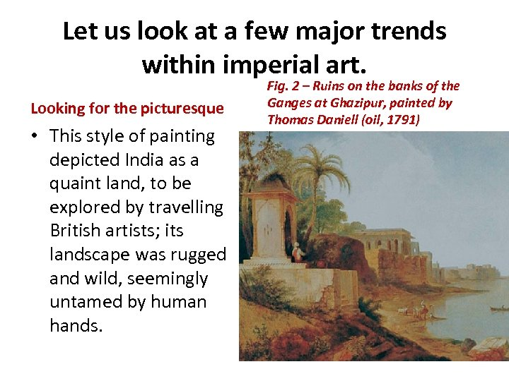 Let us look at a few major trends within imperial art. Looking for the