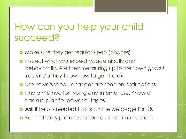How can you help your child succeed? Make sure they get regular sleep (phones)