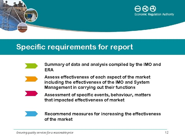 Specific requirements for report Summary of data and analysis compiled by the IMO and