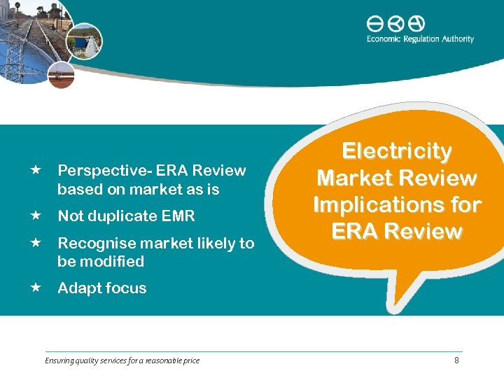 Perspective- ERA Review based on market as is Not duplicate EMR Recognise market