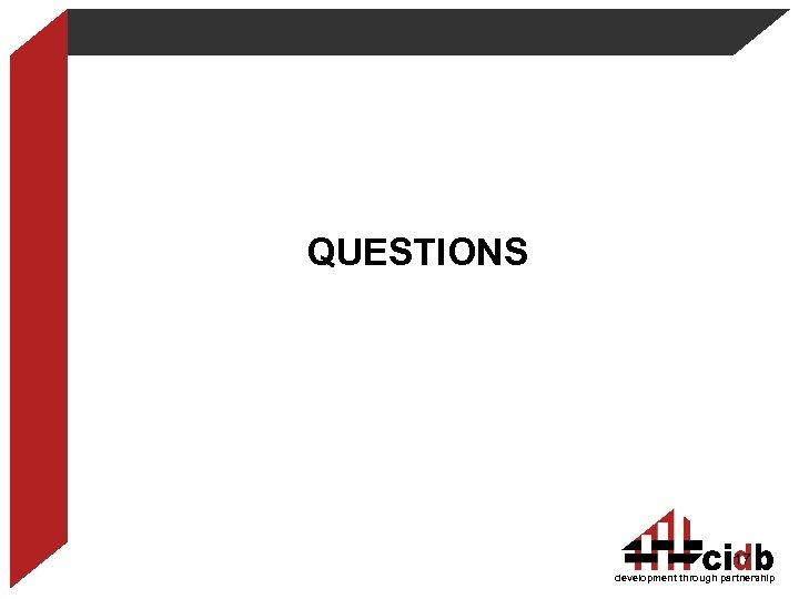 QUESTIONS 17 development through partnership