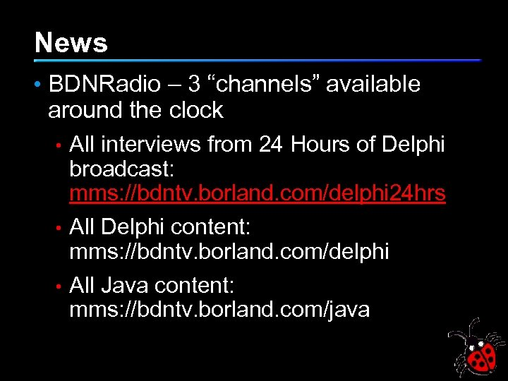 """News • BDNRadio – 3 """"channels"""" available around the clock All interviews from 24"""