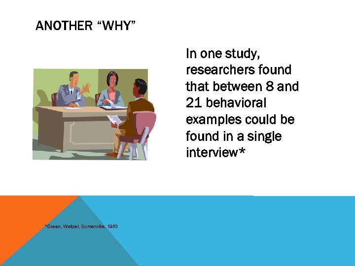 "ANOTHER ""WHY"" In one study, researchers found that between 8 and 21 behavioral examples"