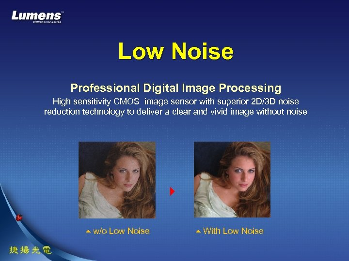 Low Noise Professional Digital Image Processing High sensitivity CMOS image sensor with superior 2