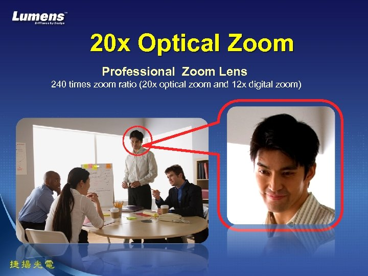 20 x Optical Zoom Professional Zoom Lens 240 times zoom ratio (20 x optical