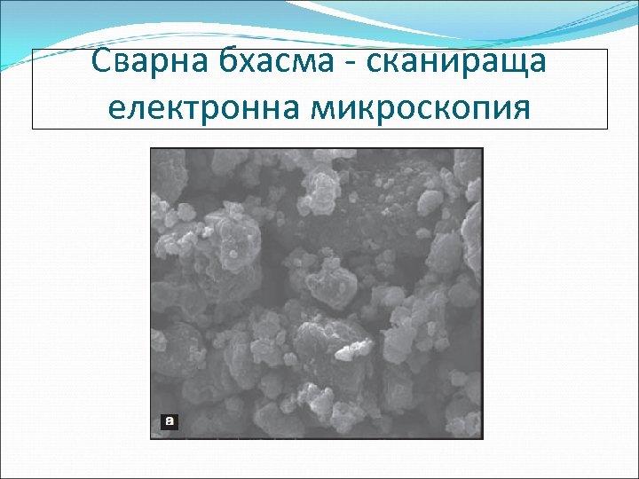 Сварна бхасма - сканираща електронна микроскопия