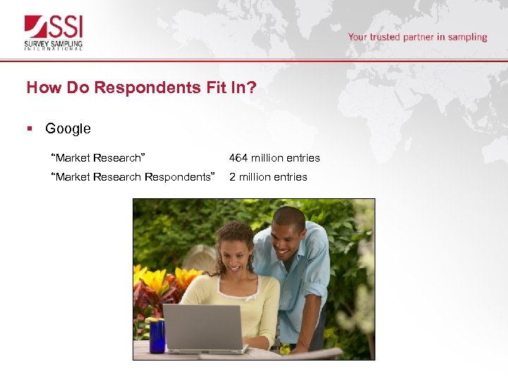 """How Do Respondents Fit In? § Google """"Market Research"""" 464 million entries """"Market Research"""