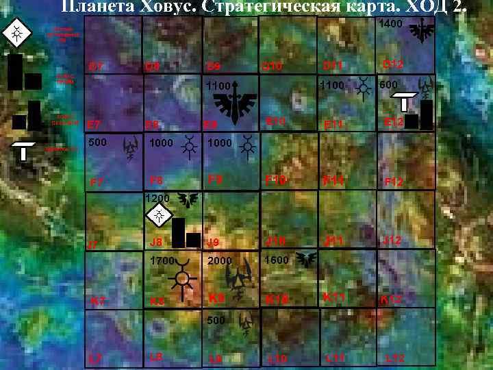 Планета Ховус. Стратегическая карта. ХОД 2. 1400 Система пробуждения (N) D 7 D 8