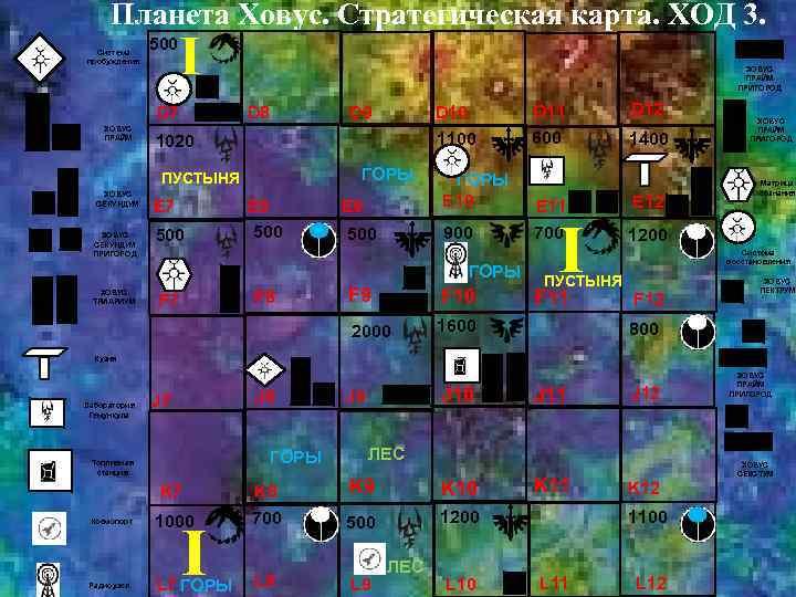 Планета Ховус. Стратегическая карта. ХОД 3. Система пробуждения 500 I D 7 ХОВУС ПРАЙМ