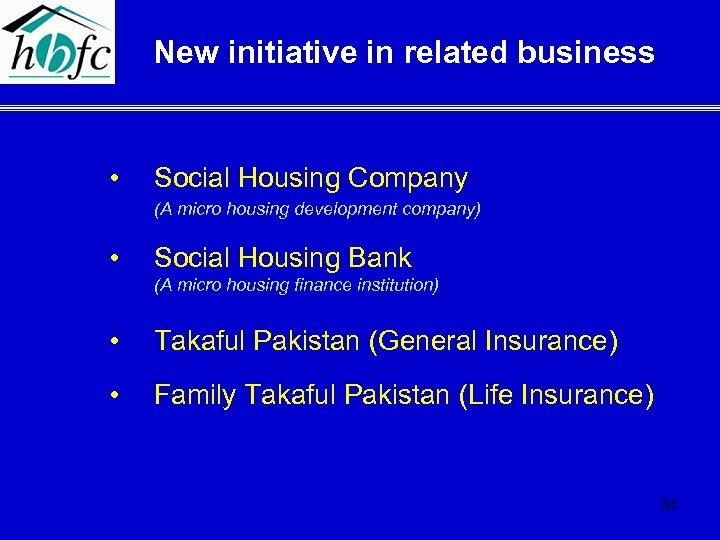 New initiative in related business • Social Housing Company (A micro housing development company)