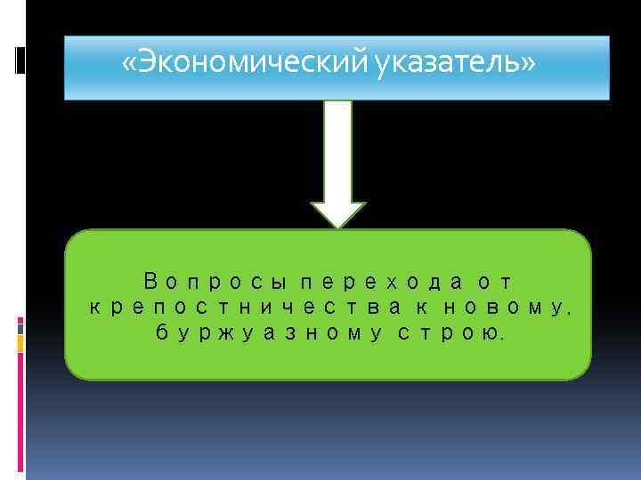 «Экономический указатель» Вопросы перехода от крепостничества к новому, вопросы перехода от крепостничества к