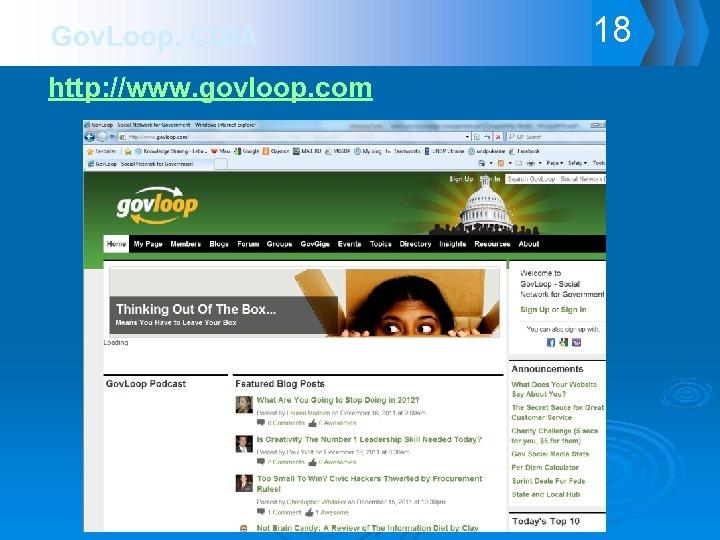 Gov. Loop, США http: //www. govloop. com 18