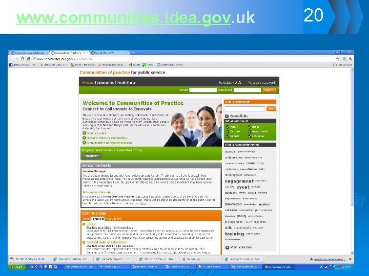 www. communities. idea. gov. uk 20