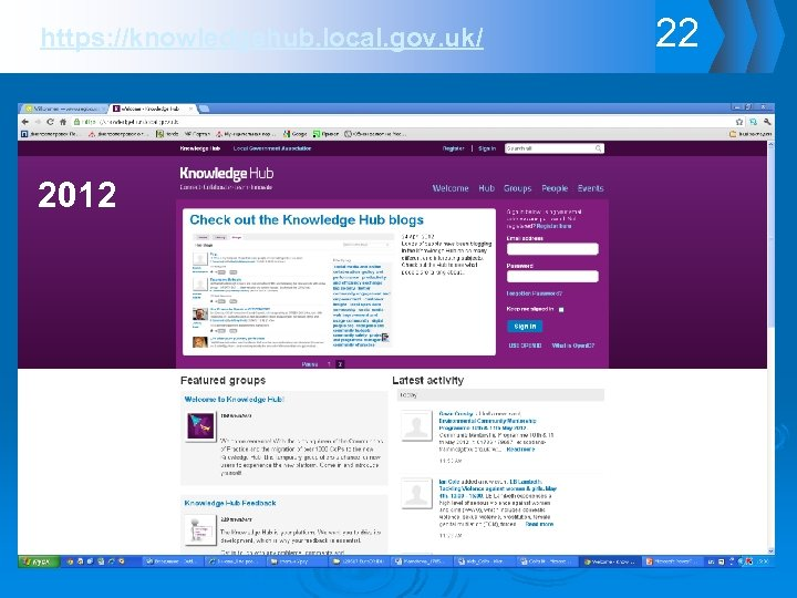 https: //knowledgehub. local. gov. uk/ 2012 22