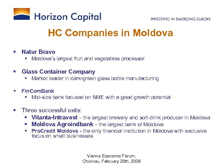 HC Companies in Moldova § Natur Bravo § Moldova's largest fruit and vegetables processor
