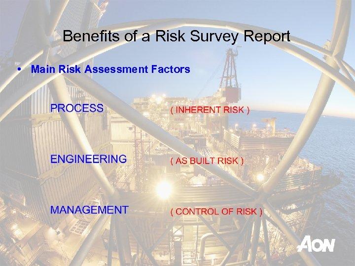 Benefits of a Risk Survey Report • Main Risk Assessment Factors