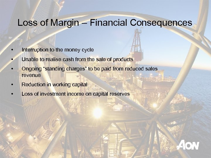 Loss of Margin – Financial Consequences • Interruption to the money cycle • Unable