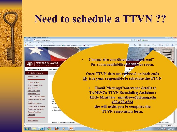 """Need to schedule a TTVN ? ? • Contact site coordinator on """"each end"""""""