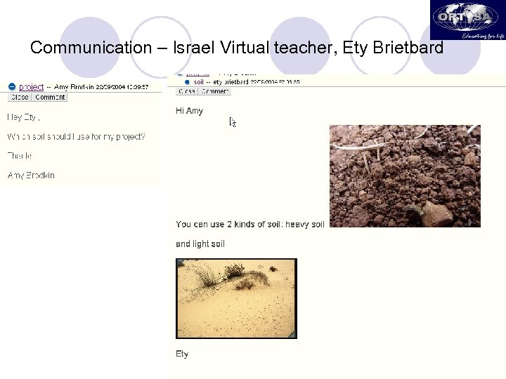 Communication – Israel Virtual teacher, Ety Brietbard
