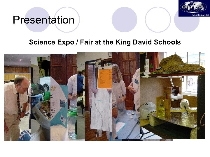 Presentation Science Expo / Fair at the King David Schools