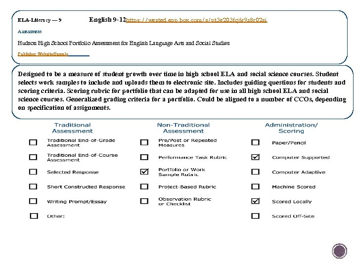 ELA-Literacy — 9 English 9 -12 https: //wested. app. box. com/s/pt 3 e 203