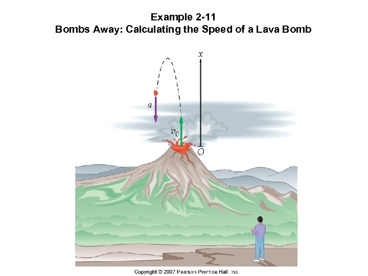 Example 2 -11 Bombs Away: Calculating the Speed of a Lava Bomb