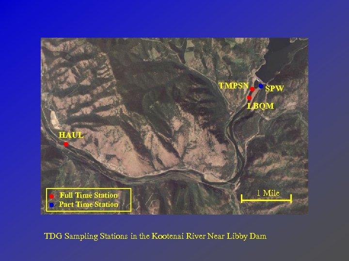TMPSN SPW LBQM HAUL Full Time Station Part Time Station 1 Mile TDG Sampling